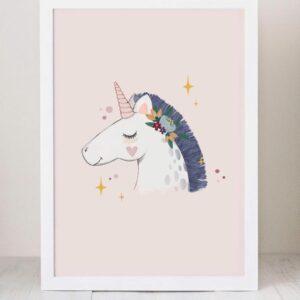 lamina decoracion infantil unicornio